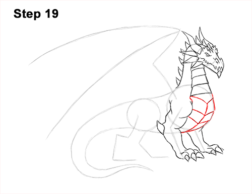 How to Draw a Cold Winter Ice Dragon 19