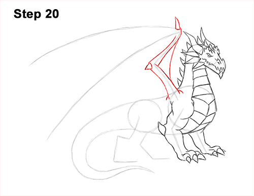 How to Draw a Cold Winter Ice Dragon 20