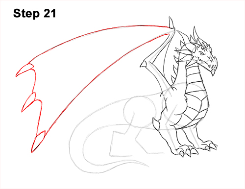 How to Draw a Cold Winter Ice Dragon 21