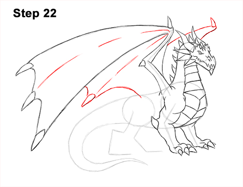 How to Draw a Cold Winter Ice Dragon 22