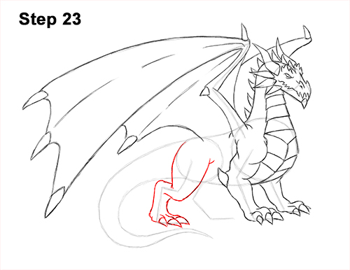 How to Draw a Cold Winter Ice Dragon 23