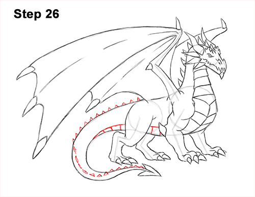 How to Draw a Cold Winter Ice Dragon 26
