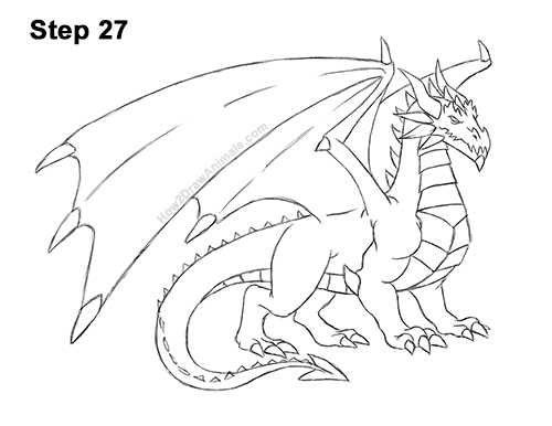 How to Draw a Cold Winter Ice Dragon 27