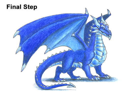 How to Draw a Cold Winter Blue Ice Dragon