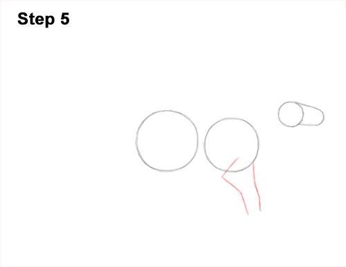 How to Draw an Iguanodon Dinosaur Side 5