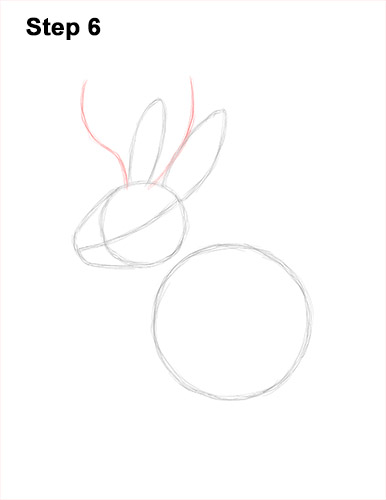 How to Draw a Jackalope Rabbit Antlers 6
