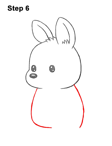 How to Draw a Cute Cartoon Kangaroo Chibi Kawaii 6