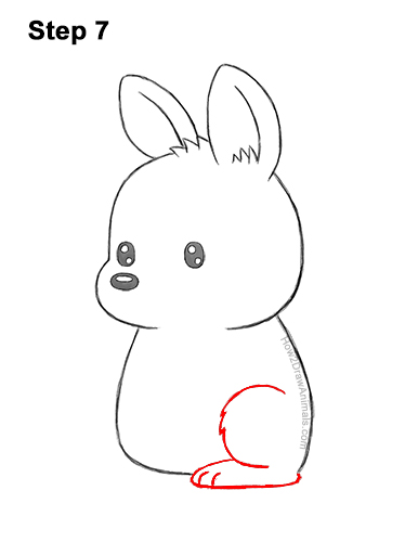 How to Draw a Cute Cartoon Kangaroo Chibi Kawaii 7