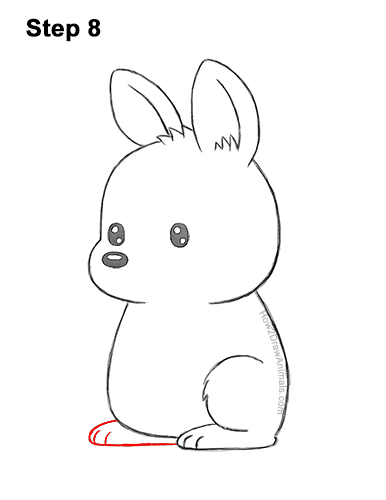 How to Draw a Cute Cartoon Kangaroo Chibi Kawaii 8