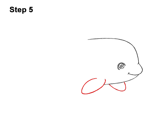 How to Draw a Cute Cartoon Killer Whale Orca Chibi Kawaii 5