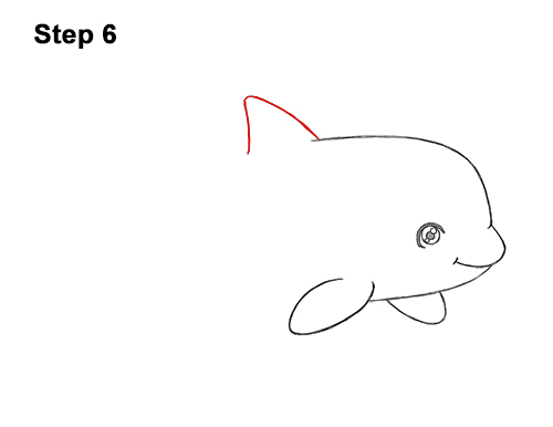 How to Draw a Cute Cartoon Killer Whale Orca Chibi Kawaii 6