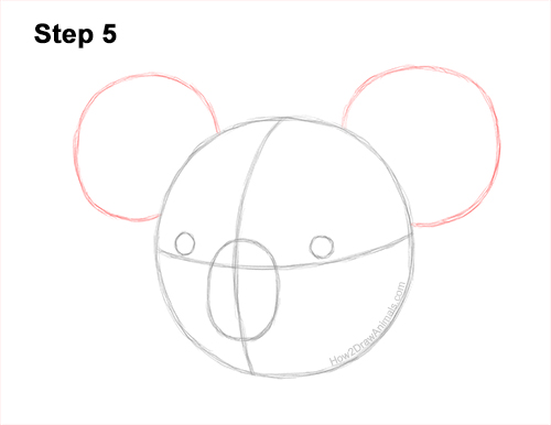 How to Draw a Koala Head Face Portrait 5