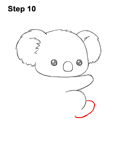How to Draw Cute Cartoon Koala Bear 10