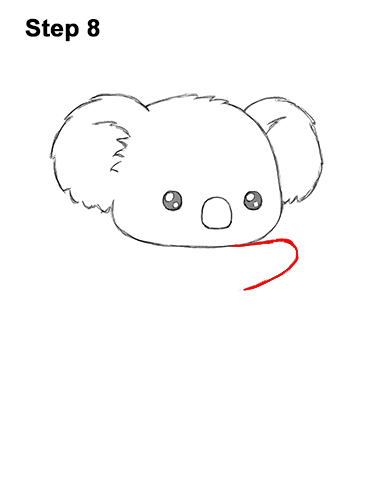 How to Draw Cute Cartoon Koala Bear 8