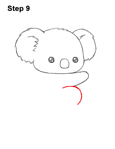 How to Draw Cute Cartoon Koala Bear 9