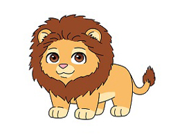 How to draw a Cute Cartoon Lion Chibi Kawaii
