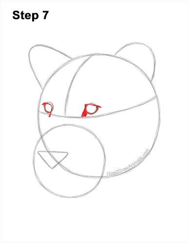 How to Draw a Lioness Head Face Portrait 7