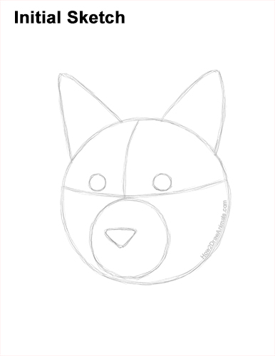 How to Draw a Lynx Bobcat Head Face Portrait Guides Lines