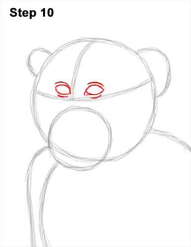 How to Draw a Rhesus Macaque Monkey Sitting 10