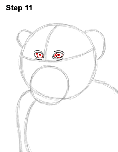 How to Draw a Rhesus Macaque Monkey Sitting 11