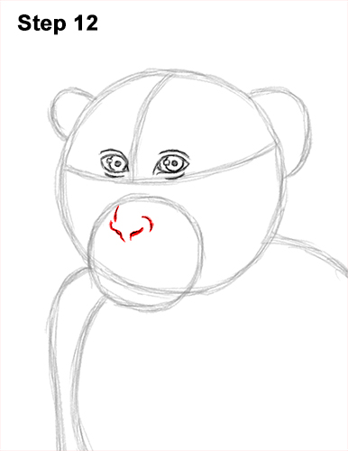 How to Draw a Rhesus Macaque Monkey Sitting 12