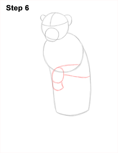 How to Draw a Rhesus Macaque Monkey Sitting 6