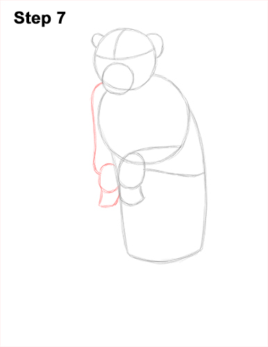How to Draw a Rhesus Macaque Monkey Sitting 7