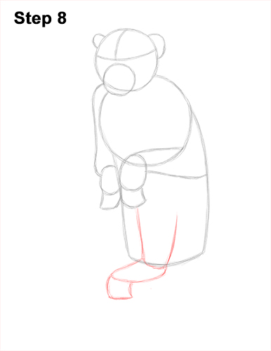 How to Draw a Rhesus Macaque Monkey Sitting 8