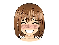 How to Draw a Manga Girl Embarrassed Shy Face Expression