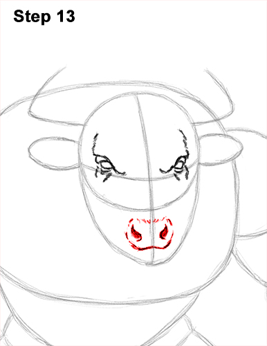 How to Draw Cool Angry Minotaur Bull Horns 13