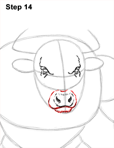 How to Draw Cool Angry Minotaur Bull Horns 14