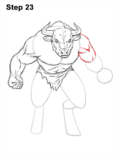 How to Draw Cool Angry Minotaur Bull Horns 23