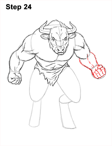 How to Draw Cool Angry Minotaur Bull Horns 24