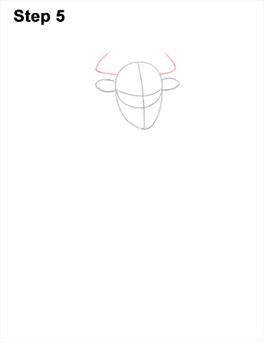 How to Draw Cool Angry Minotaur Bull Horns 5