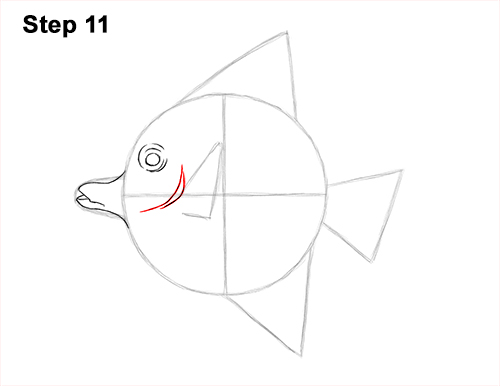 How to Draw Moorish Idol Fish 11
