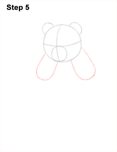 How to Draw Cute Giant Panda Bear Sitting 5