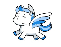 How to Draw a Cute Cartoon Pegasus Pony Wings Flying Kawaii