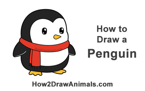 How To Draw A Penguin Cartoon Video Step By Step Pictures