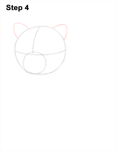 Draw Persian Kitty Cat 4