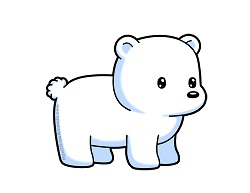 How to draw a Cute Cartoon Polar Bear Chibi Kawaii
