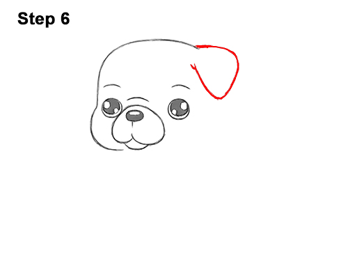 How to Draw Cute Cartoon Pug Puppy Dog Chibi Kawaii 6