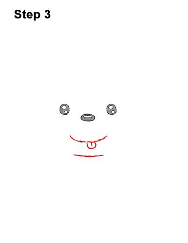 How to Draw a Cute Cartoon Harp Seal Pup Chibi Kawaii 3