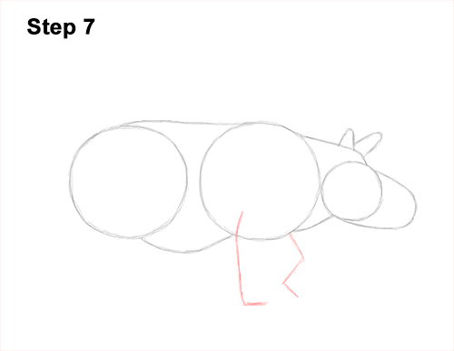 How to Draw an Indian Greater One Horned Rhinoceros 7