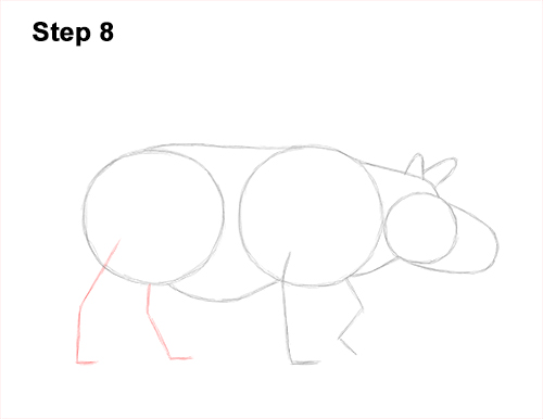 How to Draw an Indian Greater One Horned Rhinoceros 8