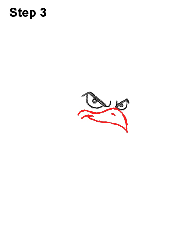 How to Draw Tough Cool Angry Brown Cartoon Rooster 3