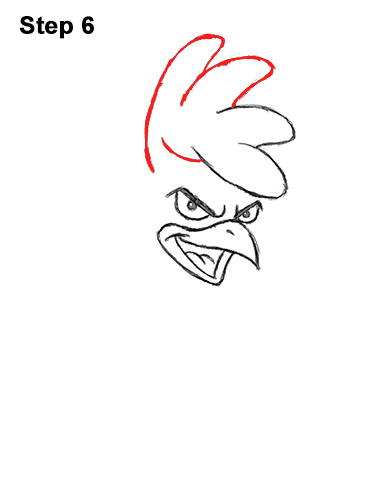 How to Draw Tough Cool Angry Brown Cartoon Rooster 6