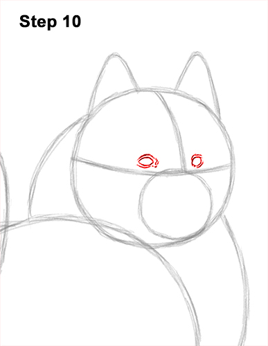 How to Draw a White Samoyed Puppy Dog 10