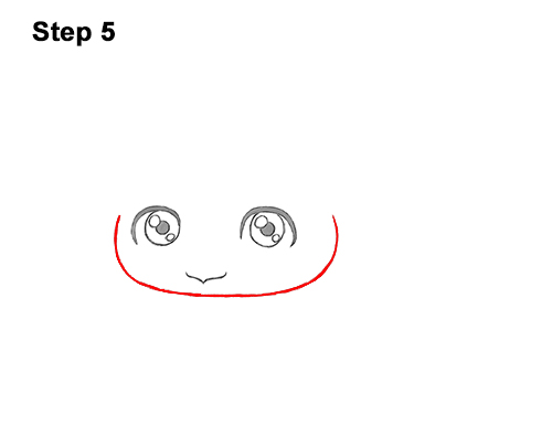 How to Draw a Cute Cartoon Sea Turtle Chibi Kawaii 5