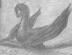 Smaug the Dragon from the Hobbit Special Drawing