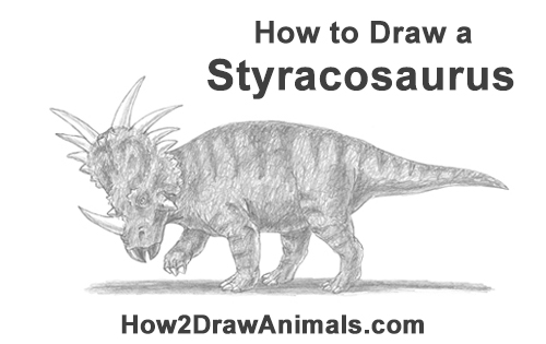 How to Draw Styracosaurus Dinosaur Horns Charging